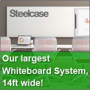 eno flexAB280 our largest whiteboard system 14ft wide!
