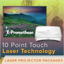 Promethean Laser Projector Packages on sale now