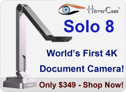 Solo 8 is the world's first 4k document camera